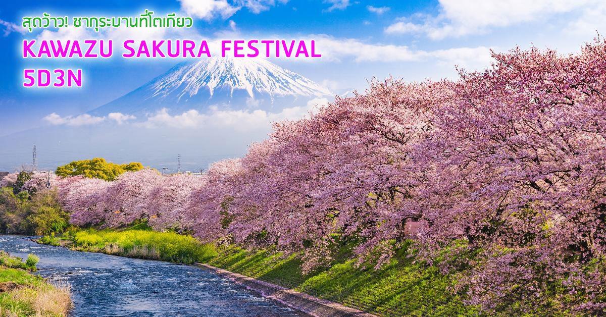 สุดว้าว ซากุระบานที่โตเกียว งานเทศกาล คะวะซุ เฟลติวัล